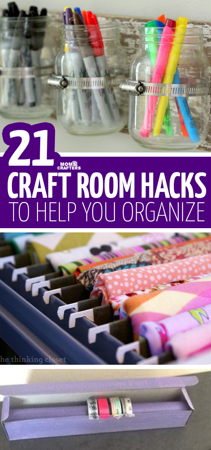 Clickfor craft room organization tips, hacks, and solutions that you can DIY! These cool scraft supplies storage ideas are perfect for organizing your craft room. #craftroom #organization #crafts