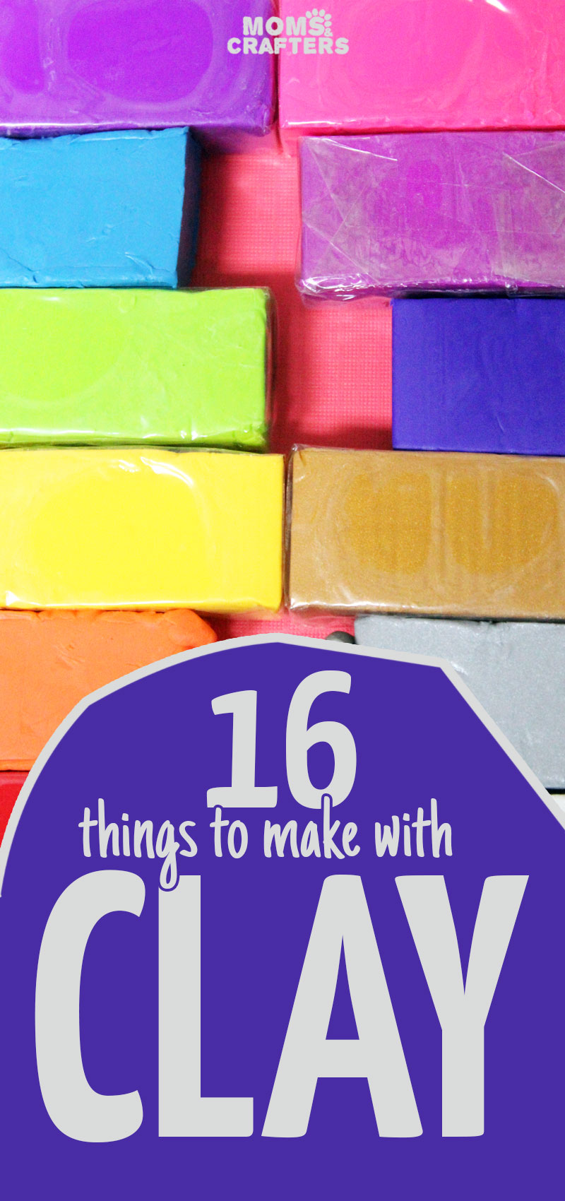 16 fun and easy clay crafts for moms or anyone! You'll love these DIY clay bowls, candle holders, toys, and more. I put together some projects that use polymer clay, some use air dry clay, and lots of fun DIY ideas for kids, for teens, and for adults.