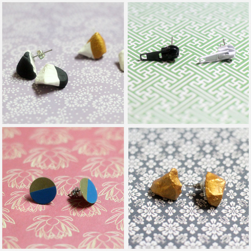 18 super easy DIY earrings - cool ideas for kids, teens, and grown-ups! Make simple studs, dangle, drop, and tassel earrings with a fun tutorial for each. I love these unique and cute styles with ideas for handmade beads, boho, recycle, clay and more - some of them in under five minutes!