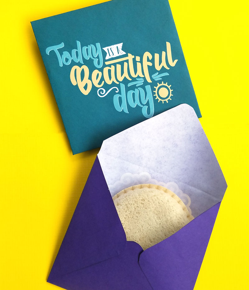 I use these free printable sandwich envelopes as a recyclable alternative to sandwich bags - plus my son loves them! They are a really great way for moms to make lunch a little more fun and special. You can use these free printable square envelopes for note cards and staionery too - one has a fun typography message and one has pretty mandala art on it.
