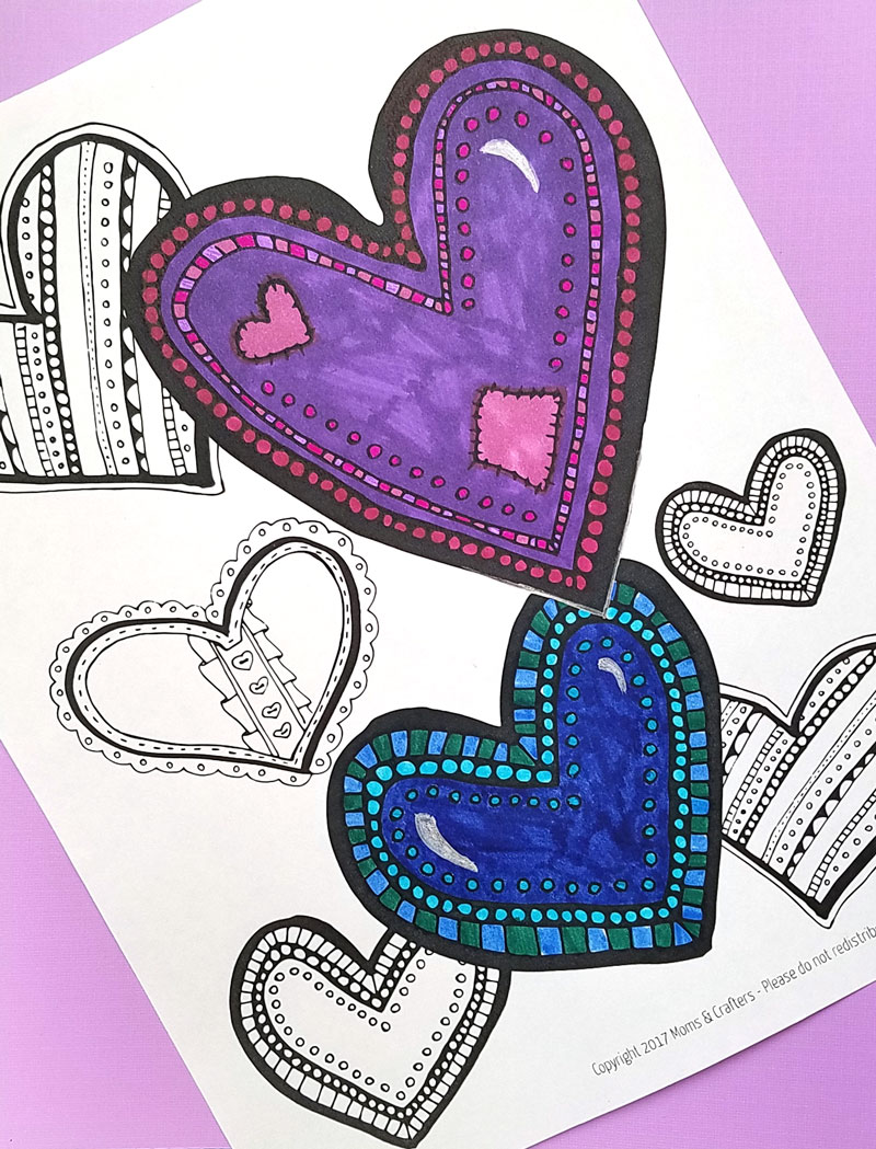 heart coloring page a free printable coloring page for adults