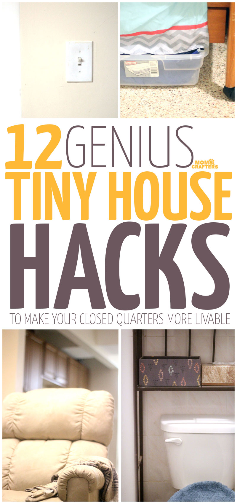 You'll love these genius tiny house hacks for keeping a small apartment organized and neat. These home organization tips also teach little DIY tricks and tools for making a small house feel bigger.