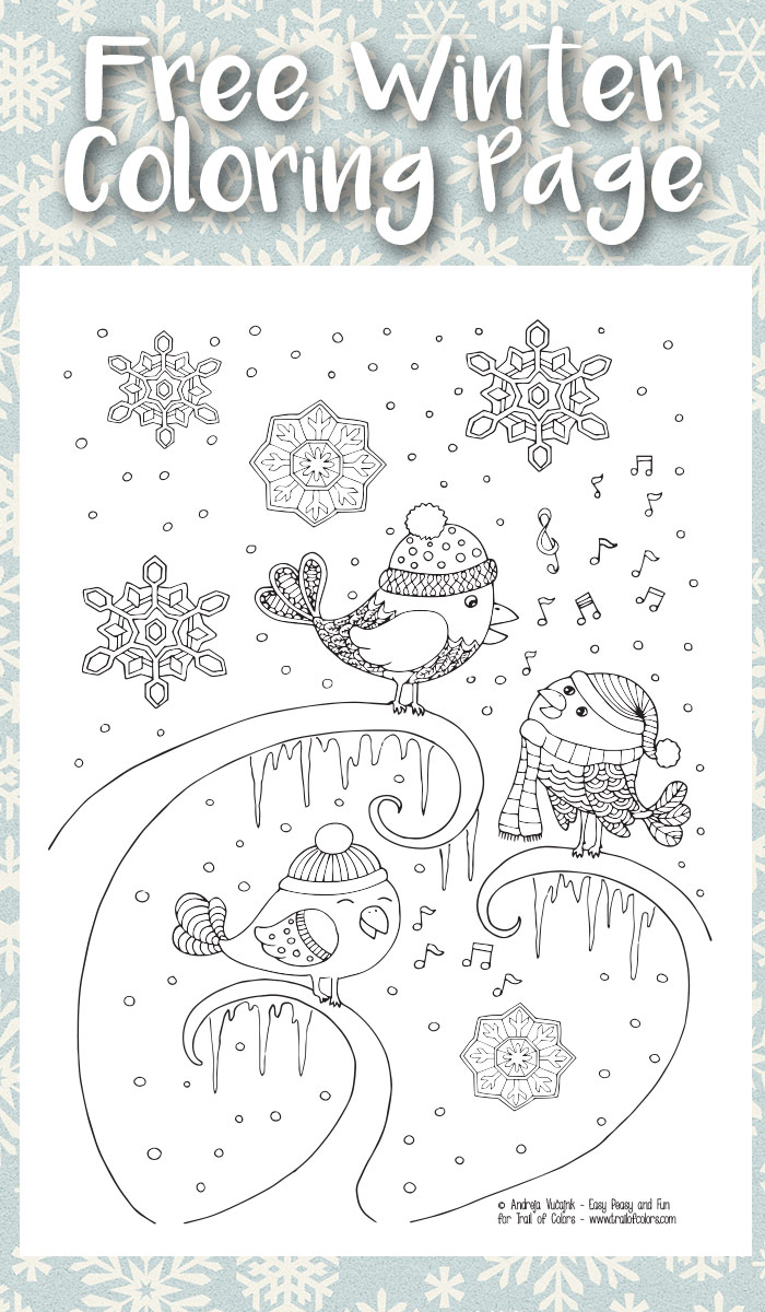 Winter pages to color - Get These 11 Free Printable Winter Coloring Pages For Adults Not Just For Christmas