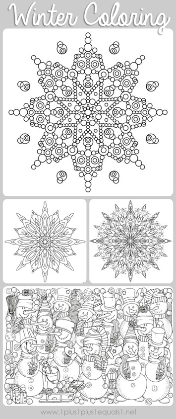 winter coloring pages for adults Free Printable Winter Coloring Pages for Adults – Moms and Crafters winter coloring pages for adults