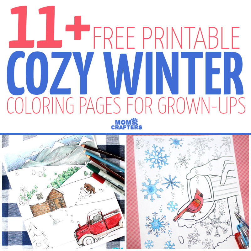 11 Free Printable Winter Coloring Pages For Adults