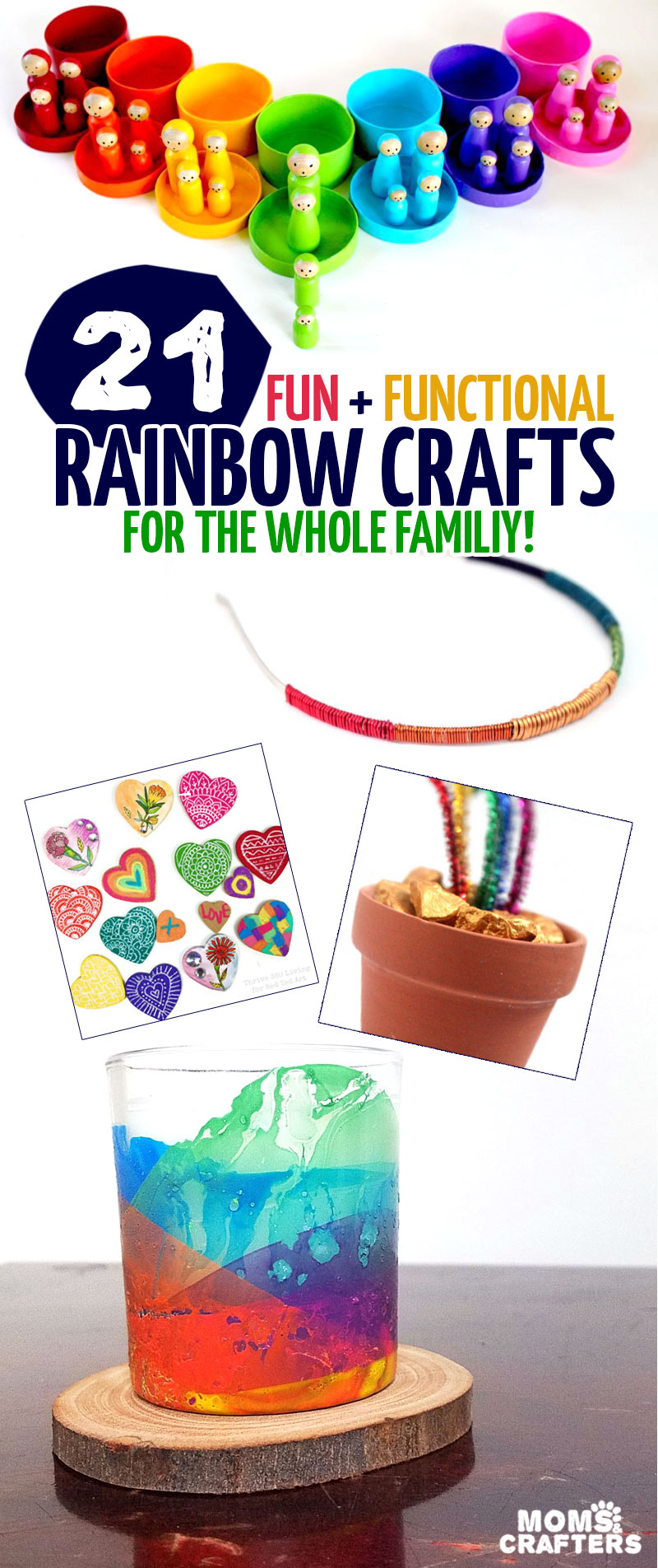 Rainbow Crafts for kids and grown-ups to make! - Moms & Crafters