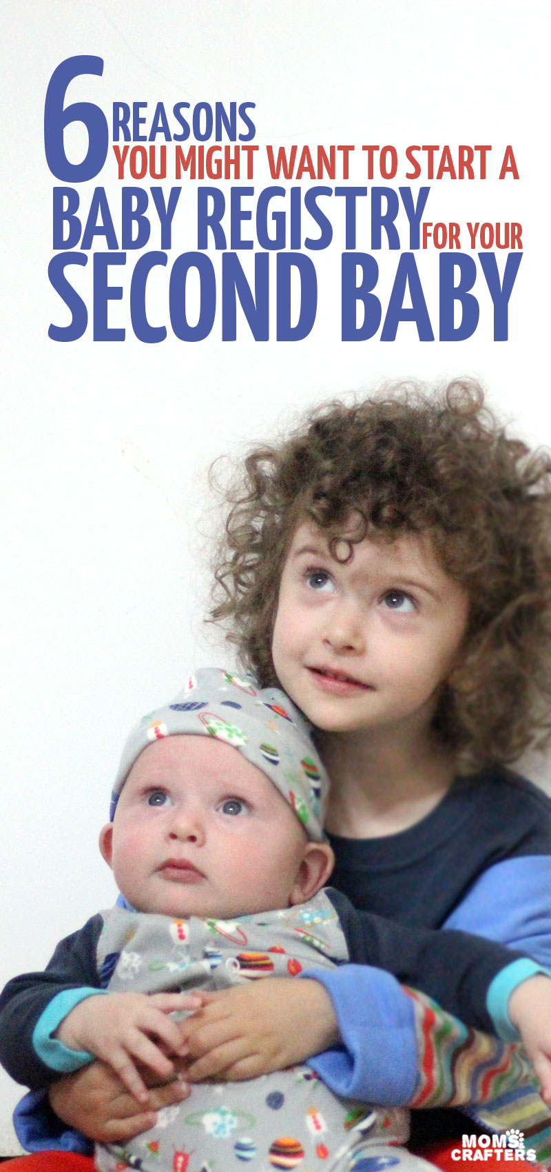 Should you make a baby registry for second baby? If you're not sure, click to find out six reasons why you might want to register for your second child - whether you're having a baby shower or not! It includes some ideas of what to register for - hope you enjoy these pregnancy tips for second time moms!