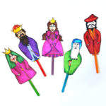 Free Printable Color-in Purim Puppets