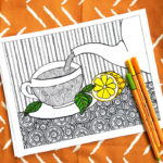 Tea Coloring Pages for Adults