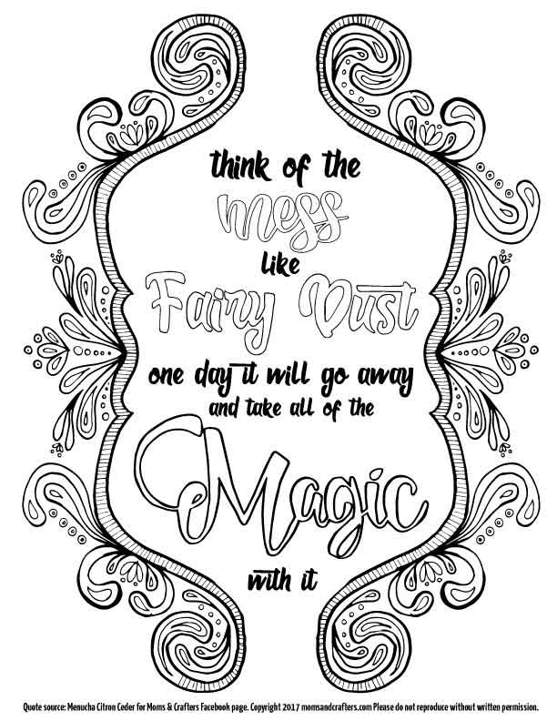 A Free Printable Coloring Page For Moms