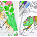 9 Animal Printables – Coloring Pages for Adults