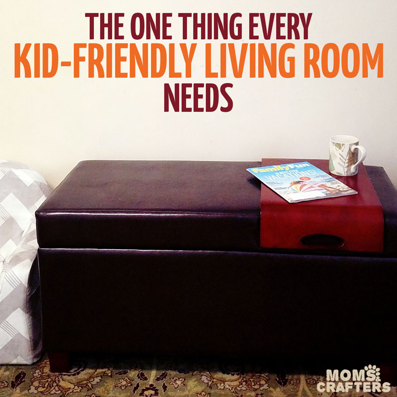 When setting up a kid friendly living room there's one thing you really NEED in there - this piece of furniture is a lifesaver for us, and has kept our space organized and put together.