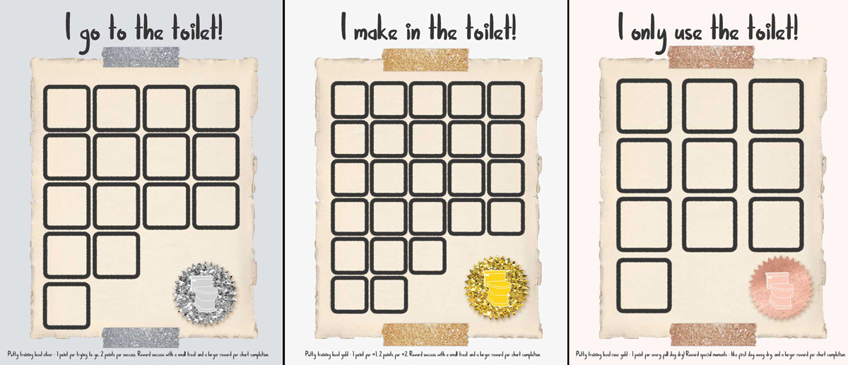 photograph about Potty Training Charts Printable identified as Potty Performing exercises Benefit Charts and Awards * Mothers and Crafters