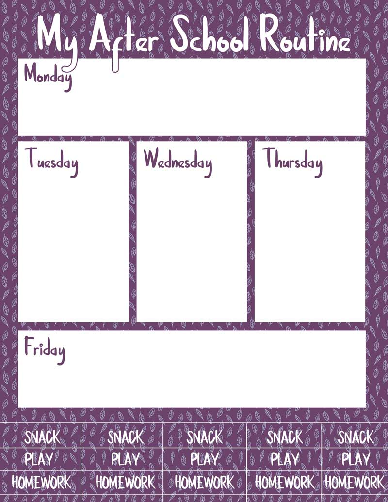 photograph regarding After School Schedule Printable titled Cost-free Printable The moment College or university Agenda Planners * Mothers and Crafters