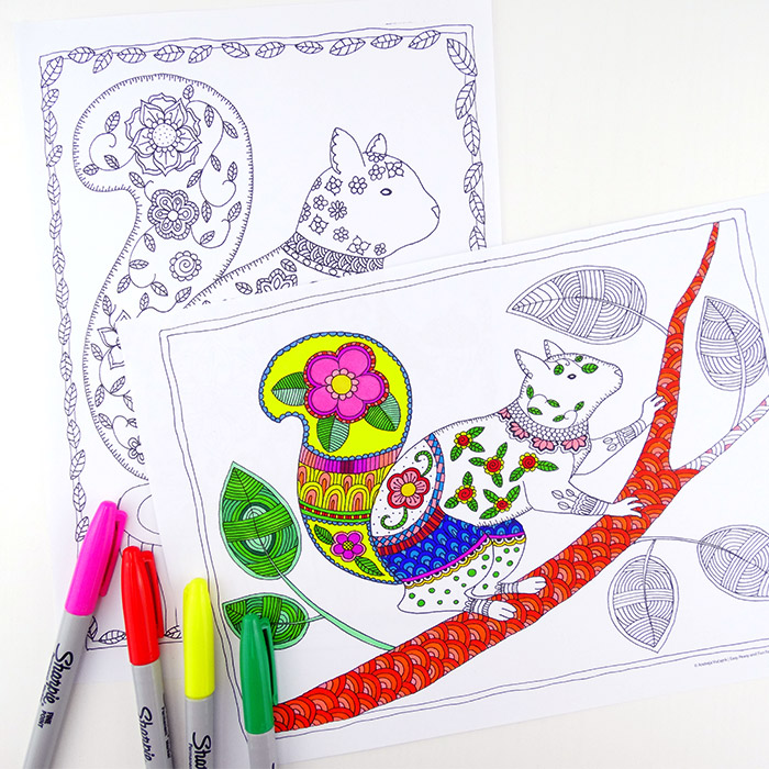 Grab some animal printables and unwind with these free animal coloring pages for adults! You'll love these beautiful graphic and detailed coloring pages for grown-ups and kids.