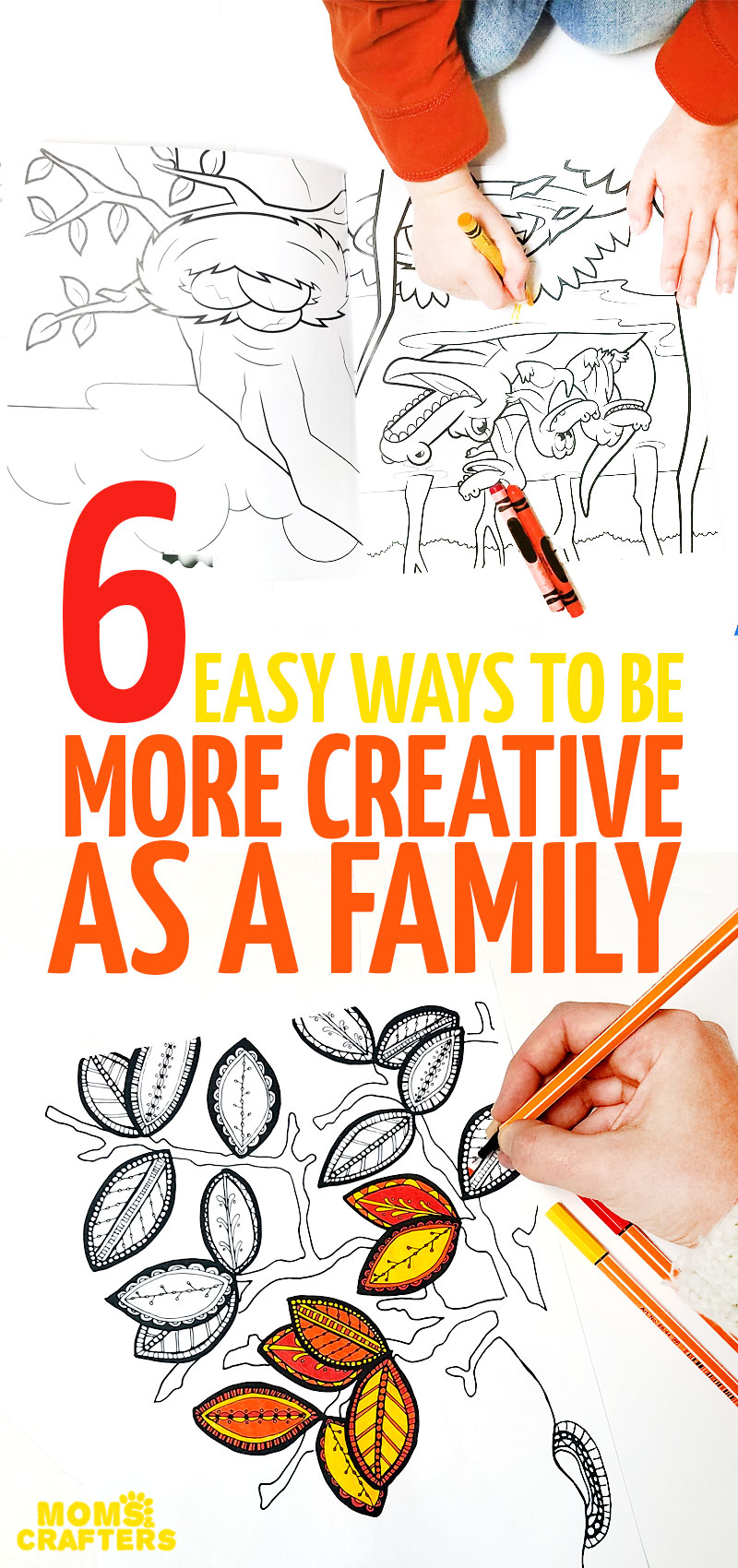 We love to be creative as a family but it can be challenging with young kids... Here are some ways to foster creativity, and spend quality time while using imagination and creating! You'll love these fun family activities and fun ideas~!