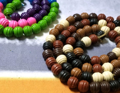 DIY Trivet from Wooden Beads