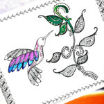 Hummingbird Coloring Page – A Free Printable Coloring Page for Adults