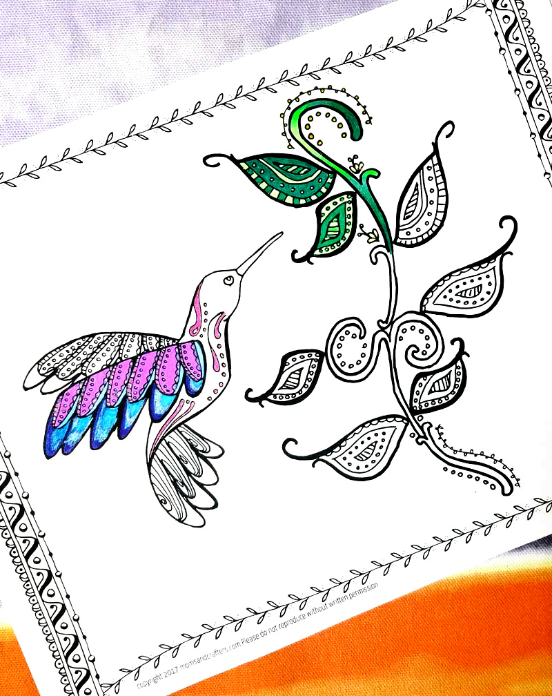Hummingbird Coloring Page - a free printable coloring page ...