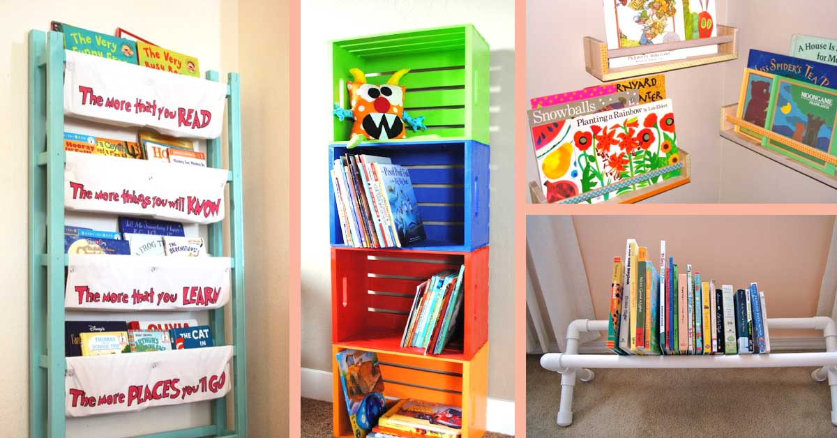 Kids Book Storage Hacks and Solutions for small and large