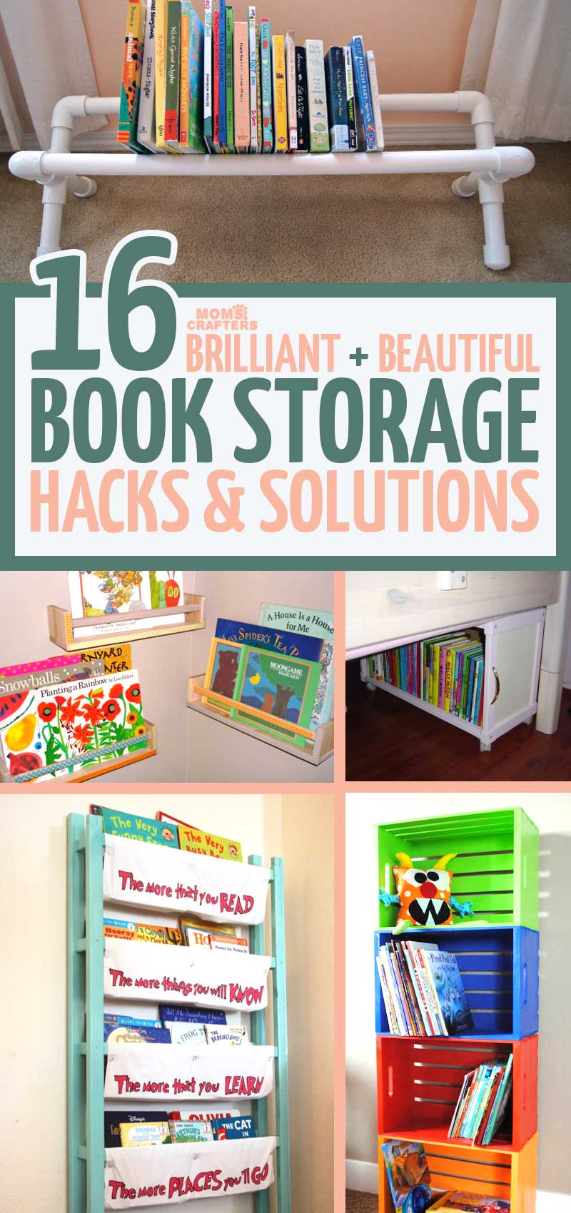 These Adorable Beautiful And Practical Kids Book Storage Hacks Solutions Will Help You With