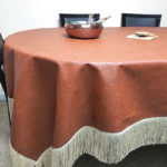 DIY Leatherette Tablecloth – No Sew Tutorial!