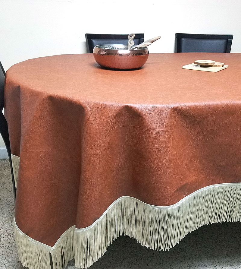 Bon A Faux Leather Table Cloth   How Brilliant Is That?! Make This Super Easy
