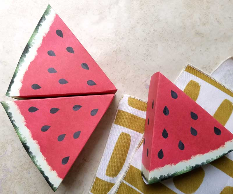 paper craft templates for play fruit watermelon moms and crafters