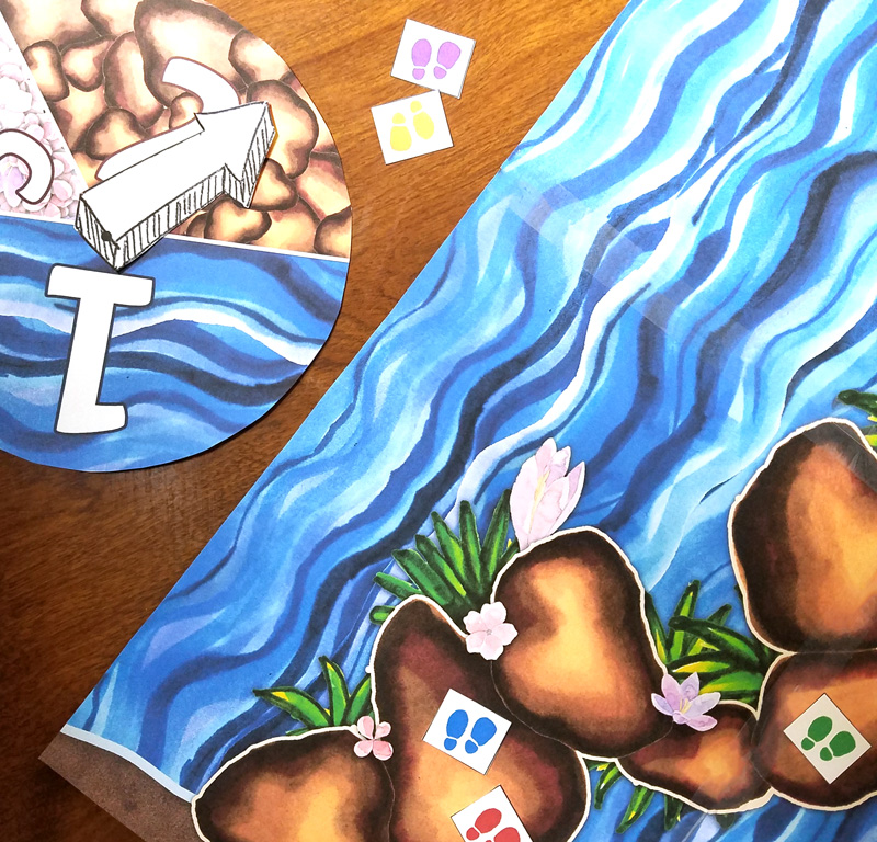 Cross the sea first in this beautiful hand-illustrated printable splitting the sea board game! This fun Passover game is focused on exodus and is a great Pesach Seder activity. It's geared toward preschool age children, but can be played as a family and on many levels. Includes Passover and Exodus trivia - or you can play it without the trivia as a Moana inspired game!