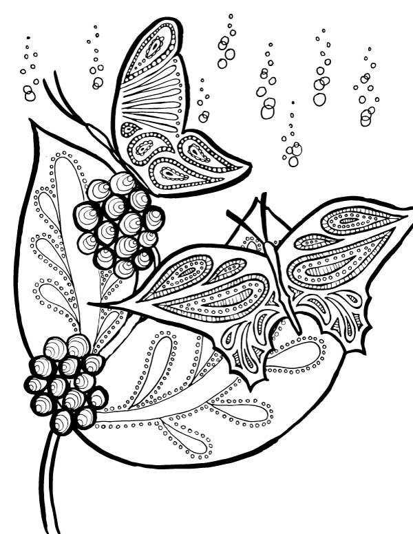Whimsical Butterfly Coloring Pages Sketch Coloring Page
