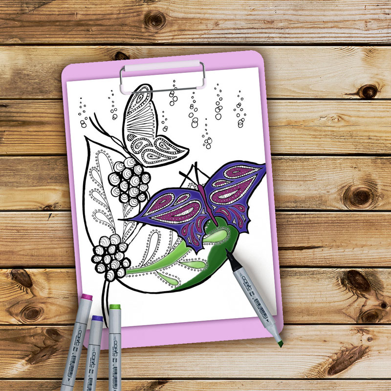 Print These Beautiful Butterflies Coloring Pages For Adults