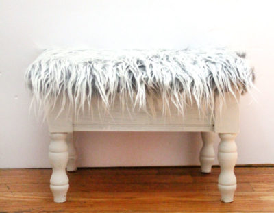 Faux Fur Stool Makeover – Quick & Easy!