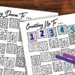Printable Countdown Calendar and Progress Tracker – Color-in!