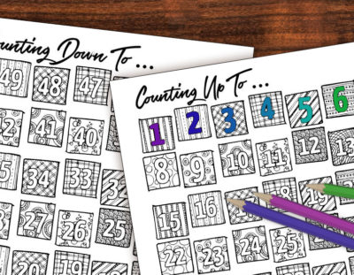 Printable Countdown Calendar and Progress Tracker – Color-in!