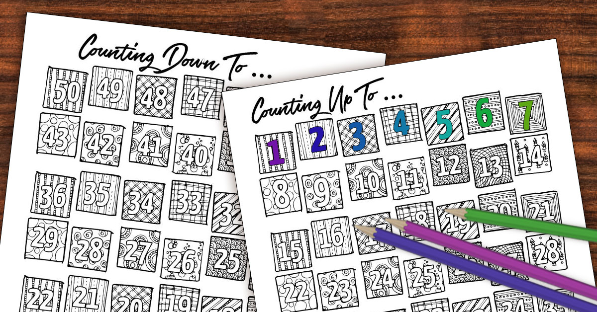picture relating to 100 Day Countdown Printable identified as Printable Countdown Calendar and Improvements Tracker - Colour-in just