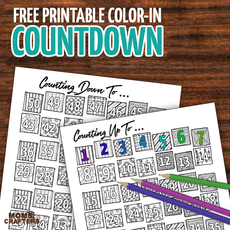 Color in the days as they pass - this free printable coundown calendar and progress tracker are so much fun - when it's colored in the big day is here! Use it to track progress (count up) - days sugar-free, diet calendar, or even to count the Omer (sefirat haomer). Use the countdown to anticipate your travels or to count toward a holiday...