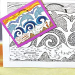 Postcards Coloring Book for Adults