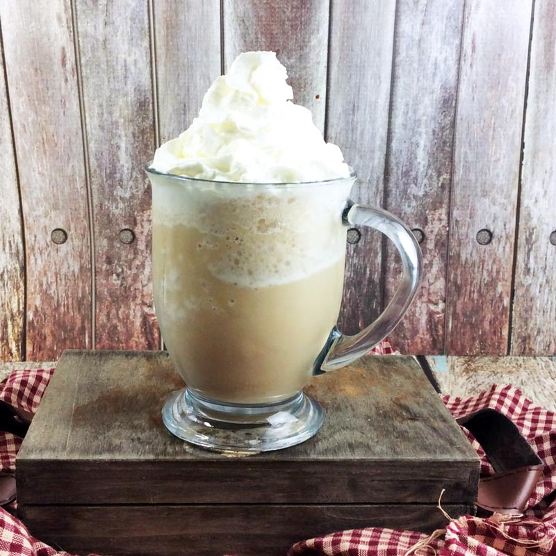 Treat yourself to this heavenly smoked butterscotch latte, inspired by the Starbucks drink - you'll love relaxing over this heavenly Starbucks knock off recipe! IT takes minutes to put together this easy coffee drink recipe and it's perfect for a cold winter day (drink warm) or a hot summer day (drink cold).