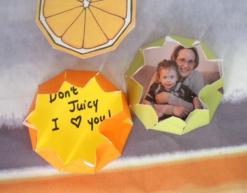 These Free Printable Citrus Fruit Coloring Pages Fold Into Surprise Message Cards