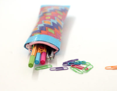 Pencil Pouch from Cardboard Tubes