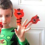 Tiger Finger Puppets