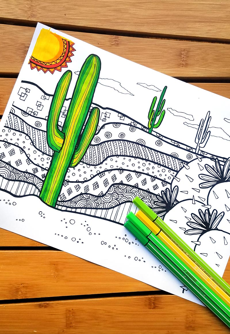 click to download this free printable cactus coloring page for adults and youll - Free Cactus Coloring Pages