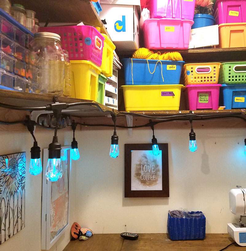 Check out the secret to making a craft room in a closet work - even though it's dark, claustrophobic, and, well, boring? This tip allows you to build a DIY craft room into a very small space such as a walk-in closet and still have it be functional - you'll love these craft room ideas especially for lighting!