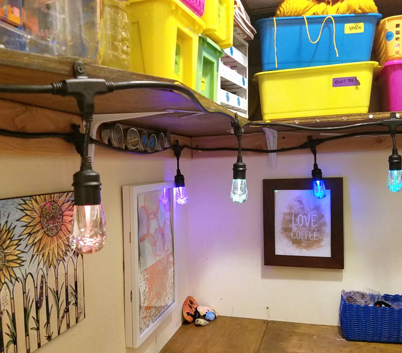 craft room lighting. check out the secret to making a craft room in closet work - even though lighting m