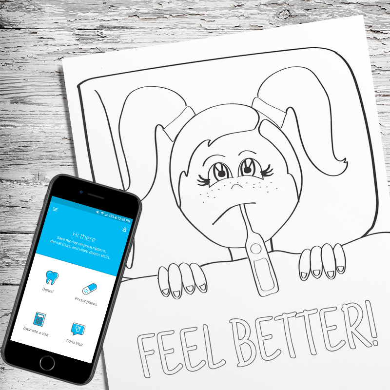 Grab this free printable sick day coloring pages for kids - the perfect sick day activity! And once you're add it, read a few tips for making sick days go smoother.