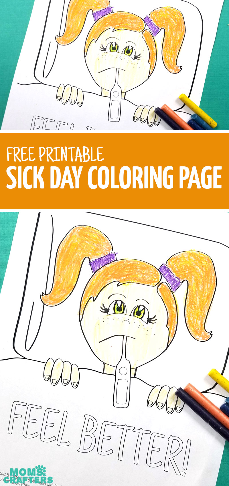 Click to download this FREE printable coloring page for kids - a perfect activity for sick days! #coloring #kidsactivities #freeprintable