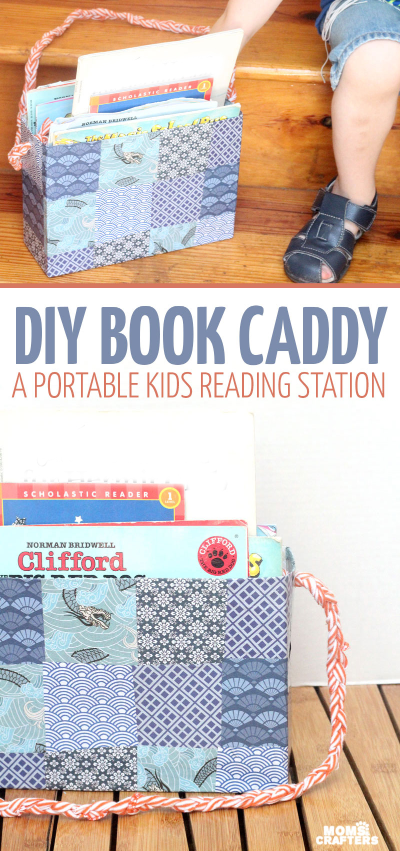 Make this DIY book tote from a recycled cereal box to transport books from the bookshelf to the reading nook! I love this idea because we have a few reading corners in our home, and it's a great way to keep things organized and neat.