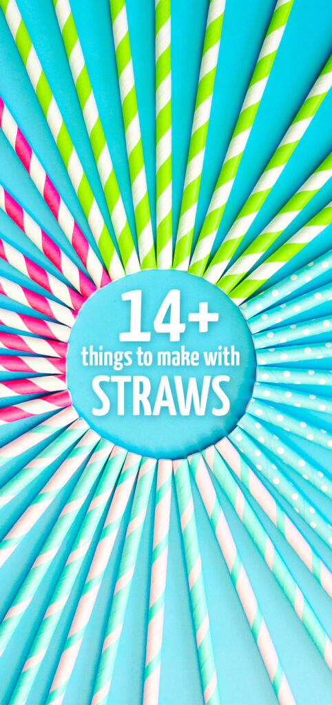 Click for what you can make with straws - paper and plastic straws - for some cool inexpensive crafts for kids and adults and some cool upcycling ideas