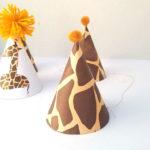 Giraffe Birthday Hat – free printable and craft
