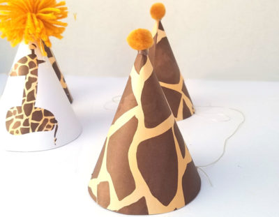 Giraffe Birthday Hat – free printable and craft
